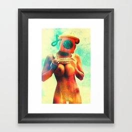SEX ON TV - CALL ME by ZZGLAM Framed Art Print