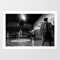 basketball Art Prints featuring Basketball by The Missionary Photographer