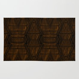 Coppery African Pyramid Rug
