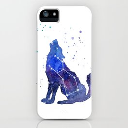 Galaxy Wolf Lupus Constellation iPhone Case