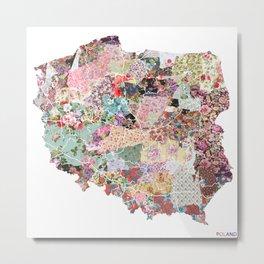Poland map Metal Print