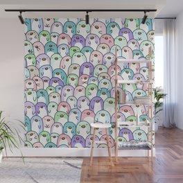 Penguin Snuggles Wall Mural