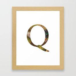 """Initital letter """"Q"""" Framed Art Print"""