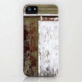 Green and White Door iPhone Case