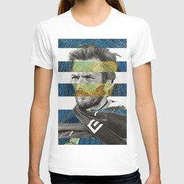 Van Gogh's Self Portrait and Clint Eastwood T-shirt