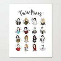 twin peaks Canvas Prints featuring twin peaks by Bunny Miele