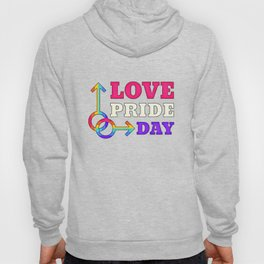 LGBT, Gay and Lesbian Quotes, Designs of Rainbows Flags and Hearts (34) Hoody