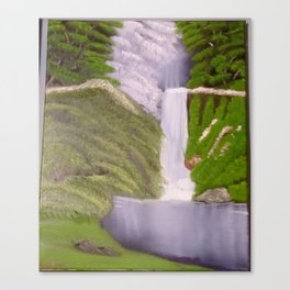 The Purple Waterfall Canvas Print