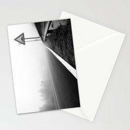 Attention to guardrail Stationery Cards