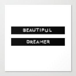 Beautiful Dreamer Vintage Label Maker  Canvas Print