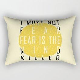 Dune - The Litany Against Fear (BLK) Rectangular Pillow