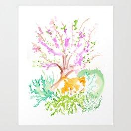 Tzfat Tree Art Print