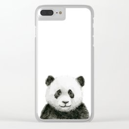 Baby Panda Watercolor Clear iPhone Case