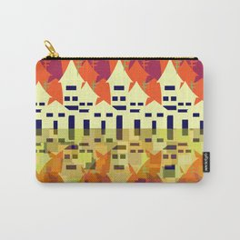 Houses in purple and brown Carry-All Pouch