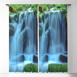 Waterfall in the forest Blackout Curtain