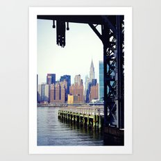 Chrysler Building in New York City, View from Queens Art Print