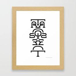 Transparent (Totem) Framed Art Print