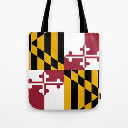 Flag of Maryland, High Quality image Tote Bag