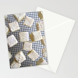 White petits fours Stationery Cards