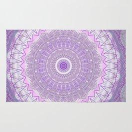 Lavender Purple Lace Mandala Rug