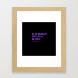 Proverbs Framed Art Print
