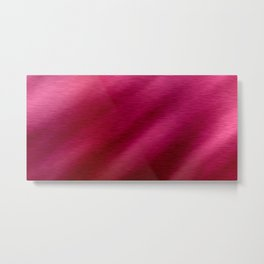 Ruby Shiny Red Metal Print