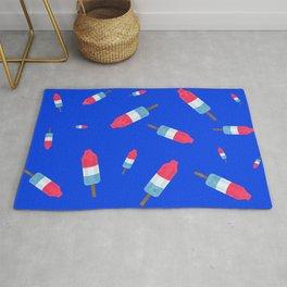 Popsicles - Retro Pattern - (cobalt blue background) Rug
