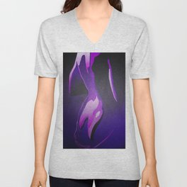 Nude In Lilac and PurplePurple Young Beautiful Nude Woman With Towel Unisex V-Neck