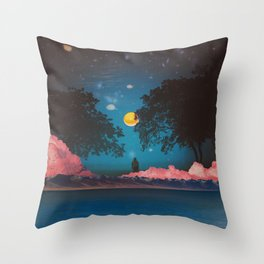 BLUE IS THE WARMEST COLOR Throw Pillow