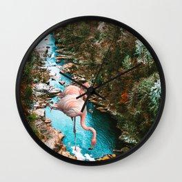 Flamingo Forest #society6 #decor #buyart Wall Clock