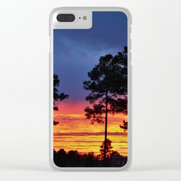 Sky On Fire Clear iPhone Case