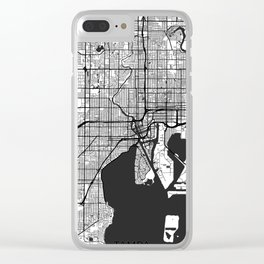 Tampa Map Gray Clear iPhone Case