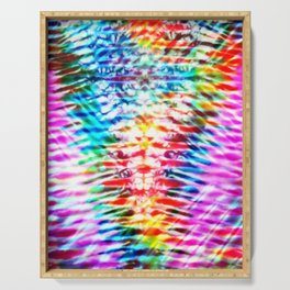 Crumpled Rainbow V Tie Dye Serving Tray