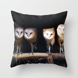 Owls the family Throw Pillow