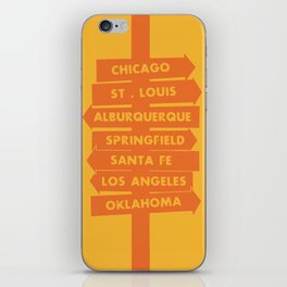 City signpost route 66 locations iPhone Skin