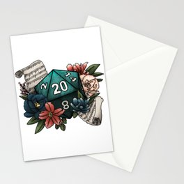 Bard Class D20 - Tabletop Gaming Dice Stationery Cards