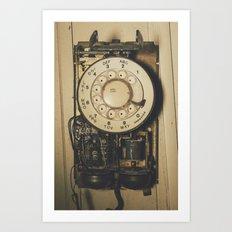 No Dial Tone Art Print
