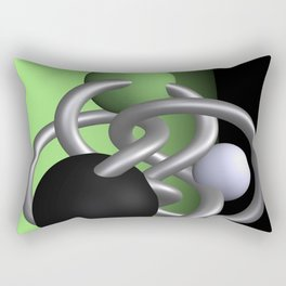 trapped -2of3- green Rectangular Pillow