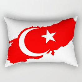 Turk Bayragi Rectangular Pillow