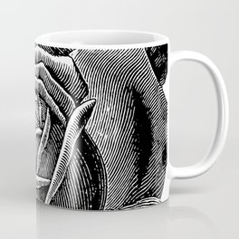 Engraved Rose Coffee Mug