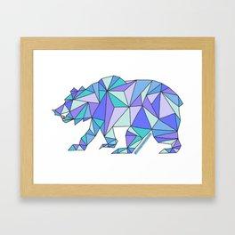 Geometric Cali Bear Framed Art Print
