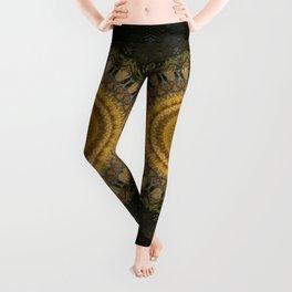 Mandala in dark and light brown tones Leggings