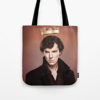 king Tote Bags featuring King by tillieke