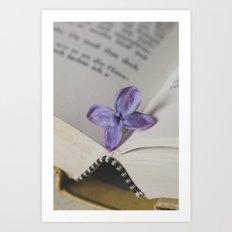 Lilac Bookmark Art Print