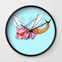 Meganeura Piggy Wall Clock