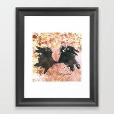 Rabbit, Rabbit! Framed Art Print