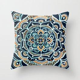 Bohemian Zen Mandala Throw Pillow