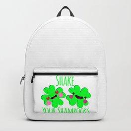 Shake Your Shamrocks Funny St. Patrick's Day Backpack