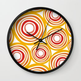 Orange circles Wall Clock