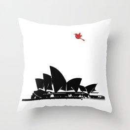 Sydney opera house silhouette Australia Sydney city Throw Pillow